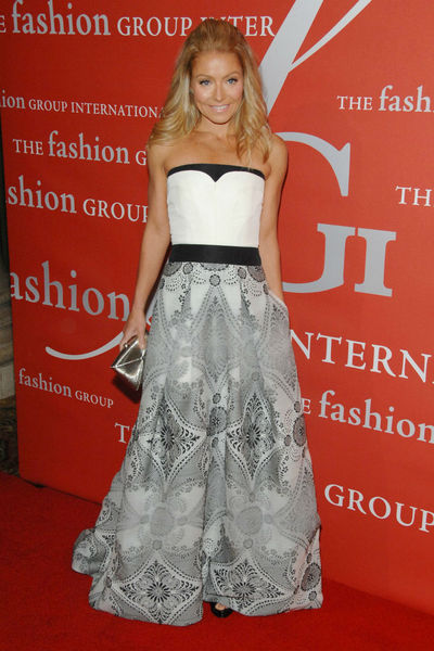 <p>Kelly Ripa at the Fashion Group&#39;s Night of Stars Gala at Cipriani Wall Street, Thursday, October 25, 2012.</p>