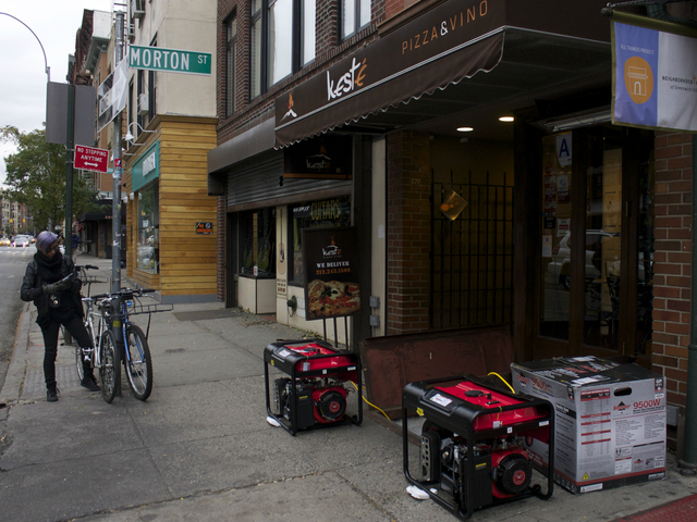 <p>Kete and Vino have purchased new generators, while other businesses on Bleeker Street are still without power.</p>