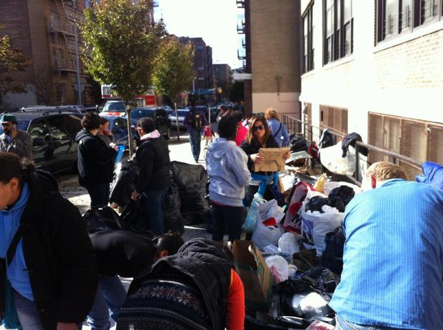 <p>In Inwood, the Knights of Columbus and the Good Shepherd Men&#39;s Club accepted donations from hundreds of residents at the Inwood Farmer&rsquo;s Market Nov. 3, 2012.</p>
