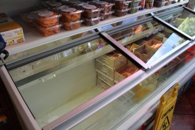 Lower Manhattan businesses are restocking, but many still lack dairy products, especially ice cream.
