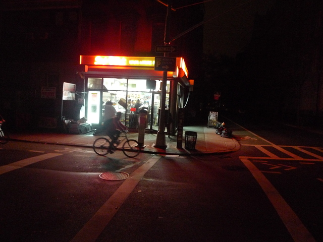 <p>A deli running on generator power provided light on the Lower East Side after Hurricane Sandy knocked out power.</p>