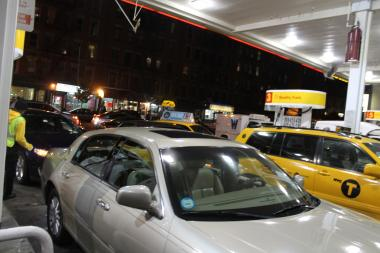Hundreds of motorist flocked to the Shell gas station at 232 W. 145th Street Thursday afternoon when they heard the station had gas.