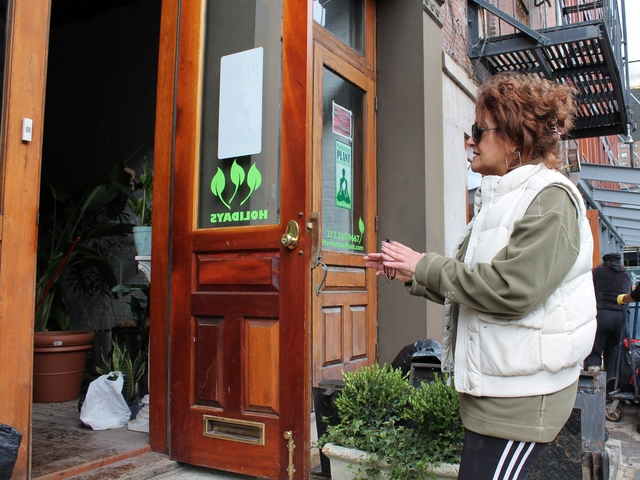 <p>Eve Luppino, owner of Manhattan Plant Design, a horticultural firm on Front street that&#39;s been open for 22 years, says flooding from the storm destroyed the office.</p>
