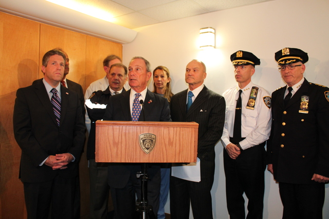 <p>Mayor Michael Bloomberg said 27-year-old Ivan Marcano is the 12th NYPD officer who has been shot this year.</p>