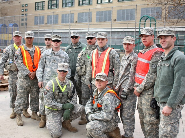 <p>The National Guard helped with the recovery efforts in Coney Island after Hurricane Sandy.</p>