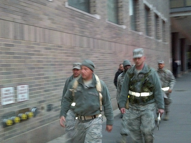<p>The National Guard helped evacuate patients from Bellevue Hospital, Oct. 31, 2012.</p>
