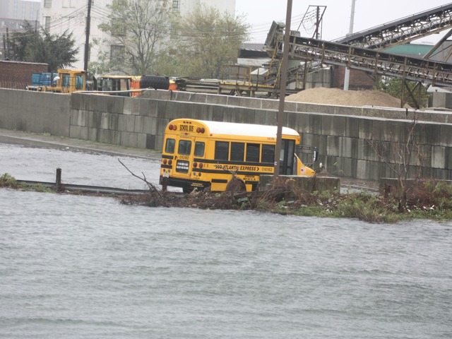 <p>Waters flooded up and out of Newtown Creek on Monday October 29, 2012.&nbsp;</p>