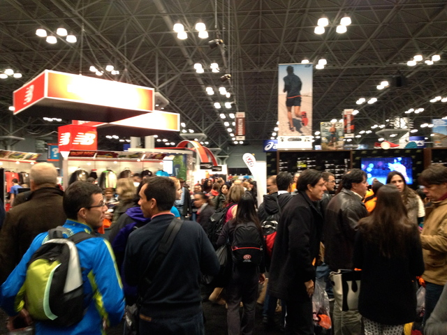 <p>Despite the disappointment of the NYC marathon&#39;s cancelation, runners continued to mill about the Marathon Expo -- &quot;What else are we going to do,&quot; said one marathoner from Spain.</p>