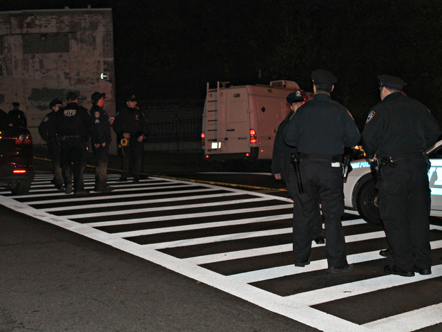 <p>An off-duty police officer was shot near 85 W. Burnside Ave. in The Bronx on Wednesday, Oct. 24, 2012.</p>