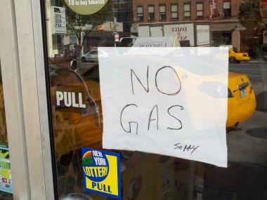 Hundreds of motorist flocked to gas stations around the city when they heard the stations had gas.