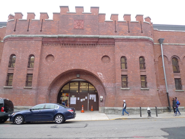 <p>The Park Slope Armory YMCA where evacuees already began arriving from Far Rockaway on Sunday, October 28, 2012, in preparation for Hurricane Sandy.</p>