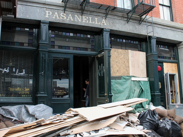 <p>Pasanella &amp; Son Vinters, a wine store on Front Street, is recovering from Hurricane Sandy but plans to re-open in some capacity over the next few weeks, the store manager said.</p>