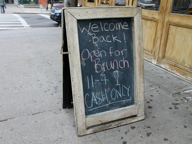 <p>The Penny Farthing reopened for brunch on Saturday.&nbsp; Restaurants all over downtown Manhattan were rushing to open their doors after being shuttered for days after Hurricane Sandy.</p>