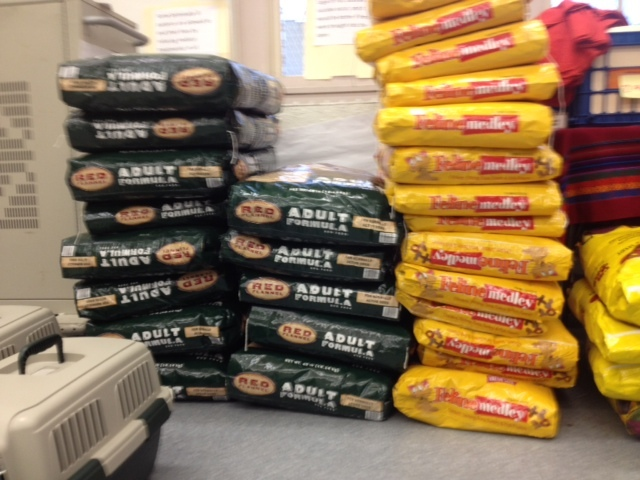 <p>The City stocked up on pet food at its city shelters in preparation of Hurricane Sandy on Oct. 28, 2012.</p>