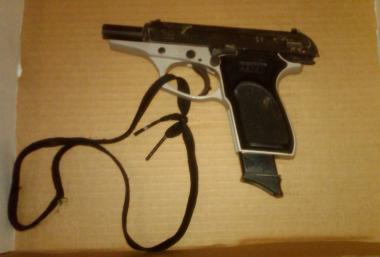 Terrance Carew, an ex-convict, allegedly used this gun to shoot at cops on Nov. 2, 2012.