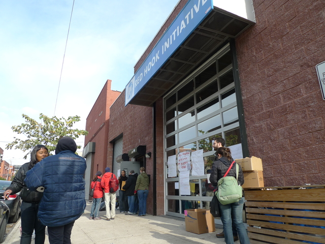 <p>Red Hook Initiative, a neighborhood nonprofit, has become a disaster relief hub since Hurricane Sandy flooded Red Hook.</p>