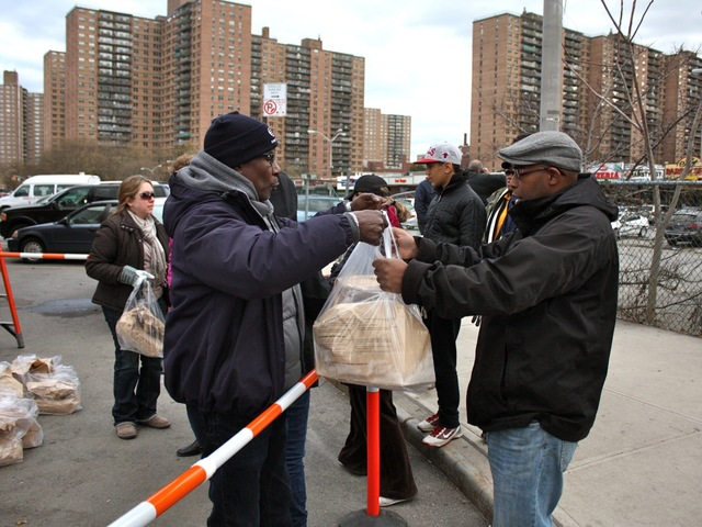 <p>Residents helped one another in Coney Island in the wake of Hurricane Sandy.</p>