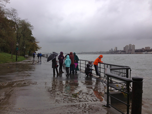 <p>Upper West SIders headed into Riverside Park early Tuesday morning, despite warnings to stay out of city parks -- which are closed because of Hurricane Sandy. Unlike much of the rest of New York City, the Upper West Side was relatively unscathed by the devastating effects of the storm.</p>