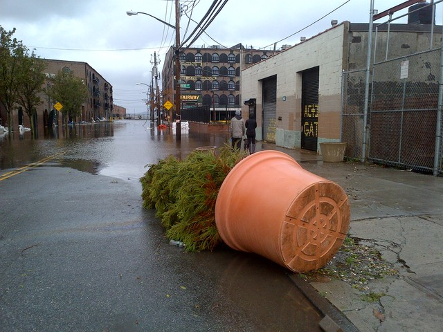 <p>Van Brunt Street in Red Hook flooded as Hurricane Sandy struck Monday, Oct. 29, 2012.</p>
