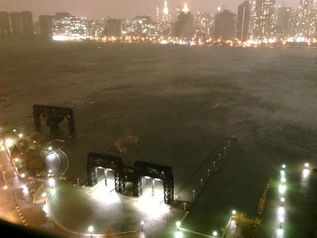 <p>Gantry Park on Monday night.</p>