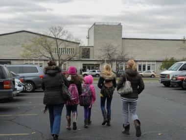 Schools affected by Hurricane Sandy reopened at new locations around New York City Wednesday morning, Nov. 7, 2012.
