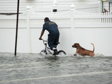 Hurricane Sandy caused major flooding in New York on Oct. 29, 2012.
