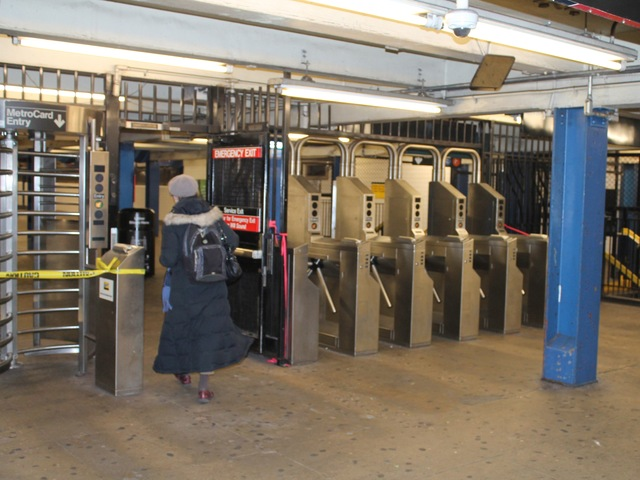 <p>Subway service resumed in Kew Gardens, Queens at the Union Turnpike station on November 1, 2012.</p>