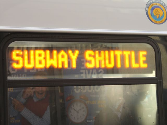 <p>Commuters waited in line for hours to take the Subway Shuttle service on November 1, 2012.</p>