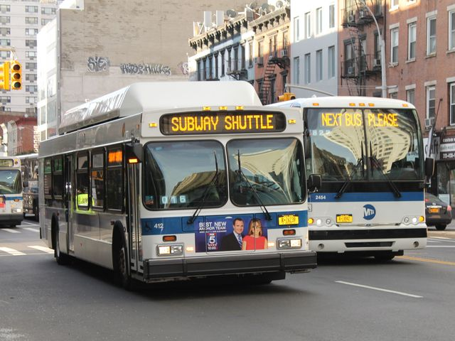 <p>New York City provided free subway shuttle bus service on November 1, 2012, three days after Hurricane Sandy flooded parts fo the city&#39;s subway system.</p>