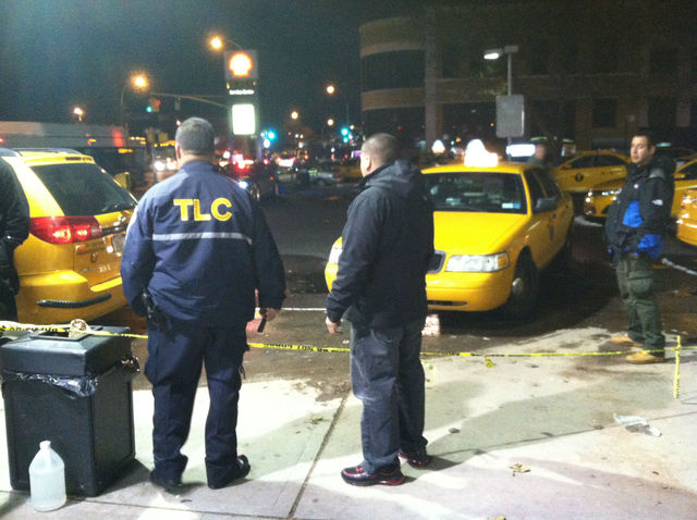 <p>Officials from the Taxi and Limousine Commission looked on as cabs poured into a Shell Station in Jackson Heights and locals were turned away.</p>