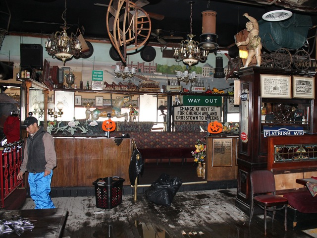 <p>The Waterfront Crab House in Long Island City following Hurricane Sandy. The owner estimated the damage at about $150,000.</p>
