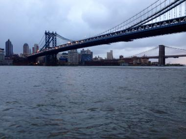 Water levels were still high on the East River Oct. 30, 2012, after Hurricane Sandy walloped New York.