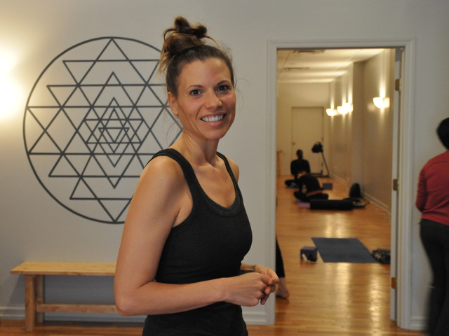 <p>Gigi Boetto said her studio Abhyasa would hold classes all day and evening despite Hurricane Sandy.</p>