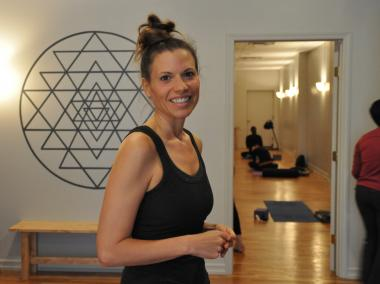 Abhyasa Yoga Studio plans to stay open through its latest class at 8:15 p.m.
