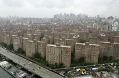 The Peter Cooper Village and Stuyvesant Town apartment complex is seen in New York in this Oct. 17, 2006 file photo. (AP Photo/Mary Altaffer, file)