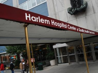 FDNY crews took a pedestrian to Harlem Hospital early Monday after she was struck by a hit-and-run driver.