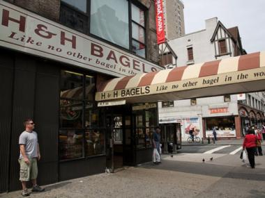 H&H Bagel store on Broadway and 80th Street