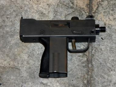 MAC-10 machine gun allegedly used by Raymond Martinez, 25, to shoot at police near Times Square Dec. 10, 2009. Martinez was killed during the gunbattle.