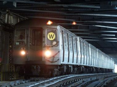 One of the lines affected by the MTA service cuts is the W line.