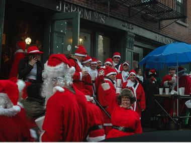 SantaCon at Jeremy's Ale House, 2008.