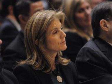 Caroline Kennedy attended Cyrus Vance, Jr.'s inauguration as Manhattan's fourth elected district attorney. (Shayna Jacobs/DNAinfo)