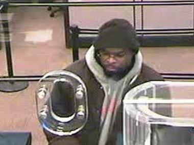 Police are searching for this man, who they say robbed a Chase Bank on Broadway and 110th St. Monday.