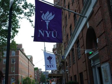 New York University in Greenwich Village.