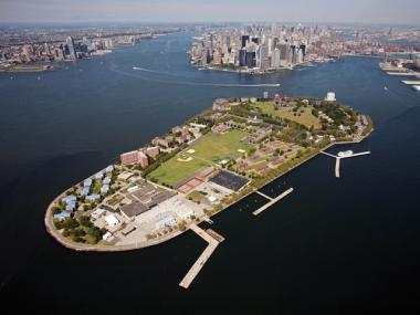 Governors Island, a possible development site for a new engineering and applied science research campus.