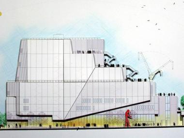 An artist's rendition for the Whitney Museum of American Art in the Meatpacking District.