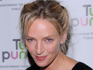Actress Uma Thurman attends the 2010 Turnaround For Children benefit dinner at The Plaza Hotel on April 13.