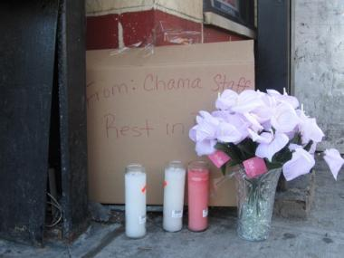 The Chama Child Development Center placed items in memorial of White at the corner where the accident occurred.