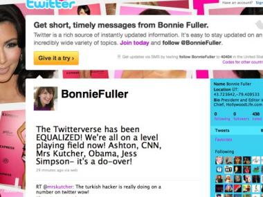 Bonnie Fuller reacted to the news with typical Twitter enthusiasm.