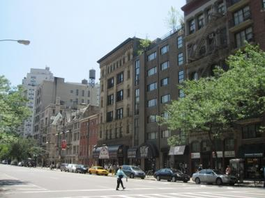 The East Village's traditionally low- and mid-rise buildings, shown here along the west side of Fourth Avenue looking south from 12th Street.