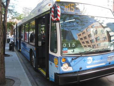 The new Select Bus Service buses, running along First and Second Avenues, will have three doors to speed up boarding.